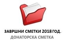 Завршни сметки 2018 година - Донаторска сметка